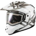 White/Silver GM11S Trapper Helmet w/Electric Shield - E72-7150L