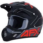 Matte Black/Red FX-17 Helmet - 0110-6486