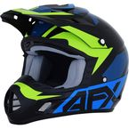 Blue/Lime FX-17 Helmet - 0110-6501
