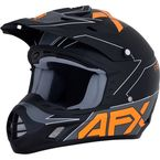 Matte Black/Orange FX-17 Helmet - 0110-6506