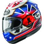 Blue/Red Corsair-X Dani Samurai-2 Helmet - 685311162748