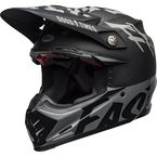 Matte/Gloss Black/White/Gray Moto-9 Flex Fasthouse When Rules Were Few Helmet - 7111386