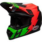 Matte Infrared/Black/Green MX-9 Mips Strike Helmet - 7110393