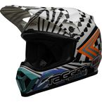White/Black/Blue MX-9 Mips Tagger Check Me Out LE Helmet - 7118332