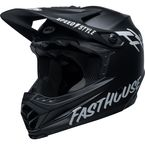Youth Matte Black/White Moto-9 MIPS Fasthouse Helmet - 7116180