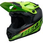 Youth Matte Green/Black/Infrared Moto-9 MIPS Glory Helmet - 7116184