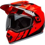 Flo Orange/Black MX-9 Adventure Mips Snow Helmet w/Dual Lens Shield - 7111632