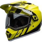 Flo Yellow/Black MX-9 Adventure Mips Snow Helmet w/Dual Lens Shield - 7111647