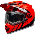 Flo Orange/Black MX-9 Adventure Mips Snow Helmet w/Electric Shield - 7112261