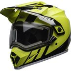 Flo Yellow/Black MX-9 Adventure Mips Snow Helmet w/Electric Shield - 7112275