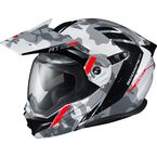 White/Grey EXO-AT950 Outrigger Helmet - 95-1624