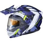Matte Blue EXO-AT950 Outrigger Snow Helmet w/Electric Shield - 95-1615-SE