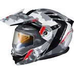 White/Grey EXO-AT950 Outrigger Snow Helmet w/Electric Shield - 95-1625-SE