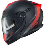 Matte Black/Neon Red EXO-GT920 Unit Modular Helmet - 92-1645