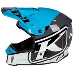 Vivid Blue F3 Disarray Helmet - ECE-Only - 3769-001-140-002