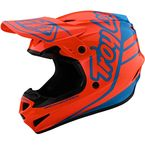 Orange/Cyan Silhouette GP Helmet - 103757023