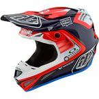 Blue/Red Flash Team SE4 Carbon Helmet - 102793004