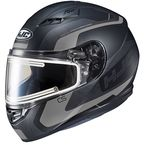 Semi-Flat Black/Gray CS-R3 Dosta MC-5SF Snow Helmet w/Frameless Electric Shield - 051-754