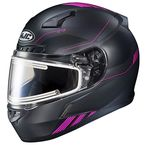 Semi-Flat Black/Pink CL-17 Combat MC-8SF Helmet w/Frameless Electric Shield - 065-785