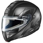 Semi-Flat Gray/Black CL-Max 3 Gallant MC-5SF Snow Helmet w/Frameless Electric Shield - 1115-754