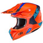 Semi-Flat Neon Red/Blue/Black i50 Erased MC-6HSF Helmet - 1312-764