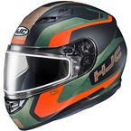 Semi-Flat Gold/Black/Green/Red CS-R3 Dosta MC-47SF Snow Helmet w/Frameless Dual Lens Shield - 151-473