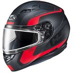 Semi-Flat Black/Red CS-R3 Dosta MC-1SF Snow Helmet w/Frameless Dual Lens Shield - 151-714