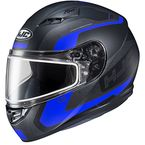 Semi-Flat Black/Blue CS-R3 Dosta MC-2SF Snow Helmet w/Frameless Dual Lens Shield - 151-724