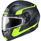 Semi-Flat Black/Hi-Viz CS-R3 Dosta MC-3HSF Snow Helmet w/Frameless Dual Lens Shield - 151-734