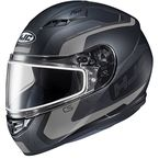 Semi-Flat Black/Gray CS-R3 Dosta MC-5SF Snow Helmet w/Frameless Dual Lens Shield - 151-754