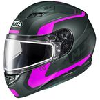 Semi-Flat Black/Pink CS-R3 Dosta MC-8SF Snow Helmet w/Frameless Dual Lens Shield - 151-784