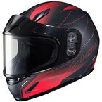Youth Semi-Flat Black/Red CL-Y Taze MC-1SF Helmet w/Framed Dual Lens Shield - 243-714