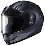 Youth Semi-Flat Black/Gray CL-Y Taze MC-5SF Helmet w/Framed Dual Lens Shield - 243-754