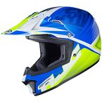 Youth Semi-Flat Blue/Green/White CL-XY II Ellusion MC-2SF Helmet - 298-724