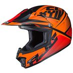Youth Semi-Flat Orange/Black CL-XY II Ellusion MC-7SF Helmet - 298-774
