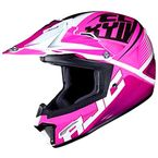 Youth Pink/White/Black CL-XY II Ellusion MC-8 Helmet - 298-984