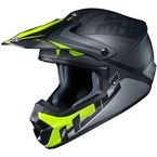 Semi-Flat Black/Gray/Green CS-MX 2 Ellusion MC-5SF Helmet - 339-754