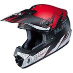 Semi-Flat Red/Black/White CS-MX 2 Krypt MC-1SF Helmet - 341-715