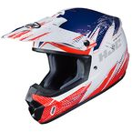 Semi-Flat Red/White/Blue CS-MX 2 Krypt MC-21SF Helmet - 341-723