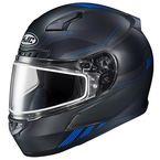 Semi-Flat Black/Blue CL-17 Combat MC-2SF Helmet w/Frameless Dual Lens Shield - 865-726