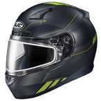 Semi-Flat Black/Hi-Viz CL-17 Combat MC-3HSF Helmet w/Frameless Dual Lens Shield - 865-732