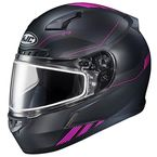 Semi-Flat Black/Pink CL-17 Combat MC-8SF Helmet w/Frameless Dual Lens Shield - 865-783