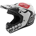 White/Black Skully Limited Edition SE4 Composite Helmet - 101801014
