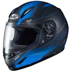 Youth Semi-Flat Blue/Black CL-Y Taze MC-2SF Helmet - 242-724