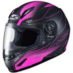 Youth Semi-Flat Pink/Black CL-Y Taze MC-8SF Helmet - 242-784