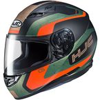 Semi-Flat Gold/Black/Green/Red CS-R3 Dosta MC-47SF Helmet - 150-474