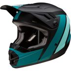 Youth Black/Teal Evac Helmet - 0111-1322