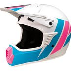 Childs White/Pink/Blue Evac Helmet - 0111-1329