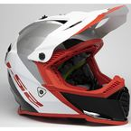 Youth White/Red/Black Gate Launch Helmet - 437G-4124