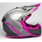 Silver/Gray/Pink Gate Launch Helmet - 437G-1144